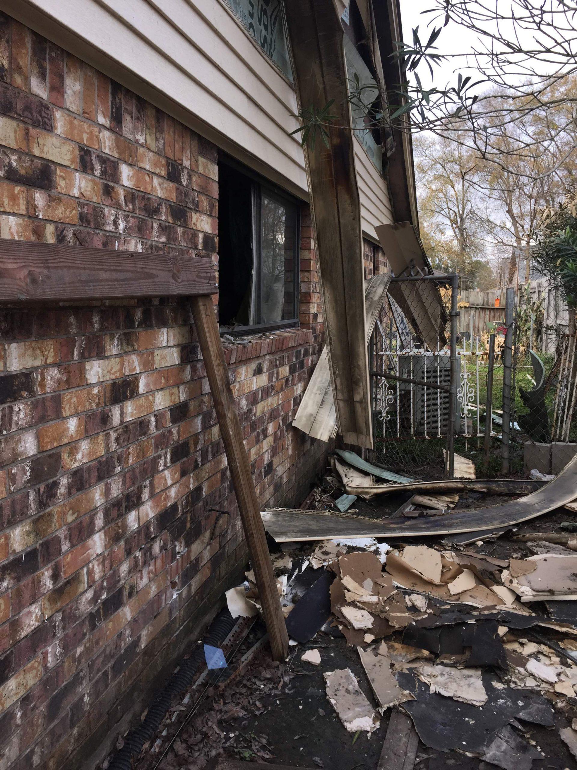 Fire Damage House Siding