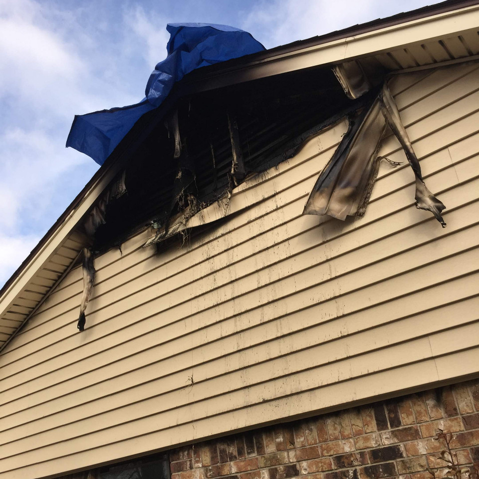 Roof Fire Damage