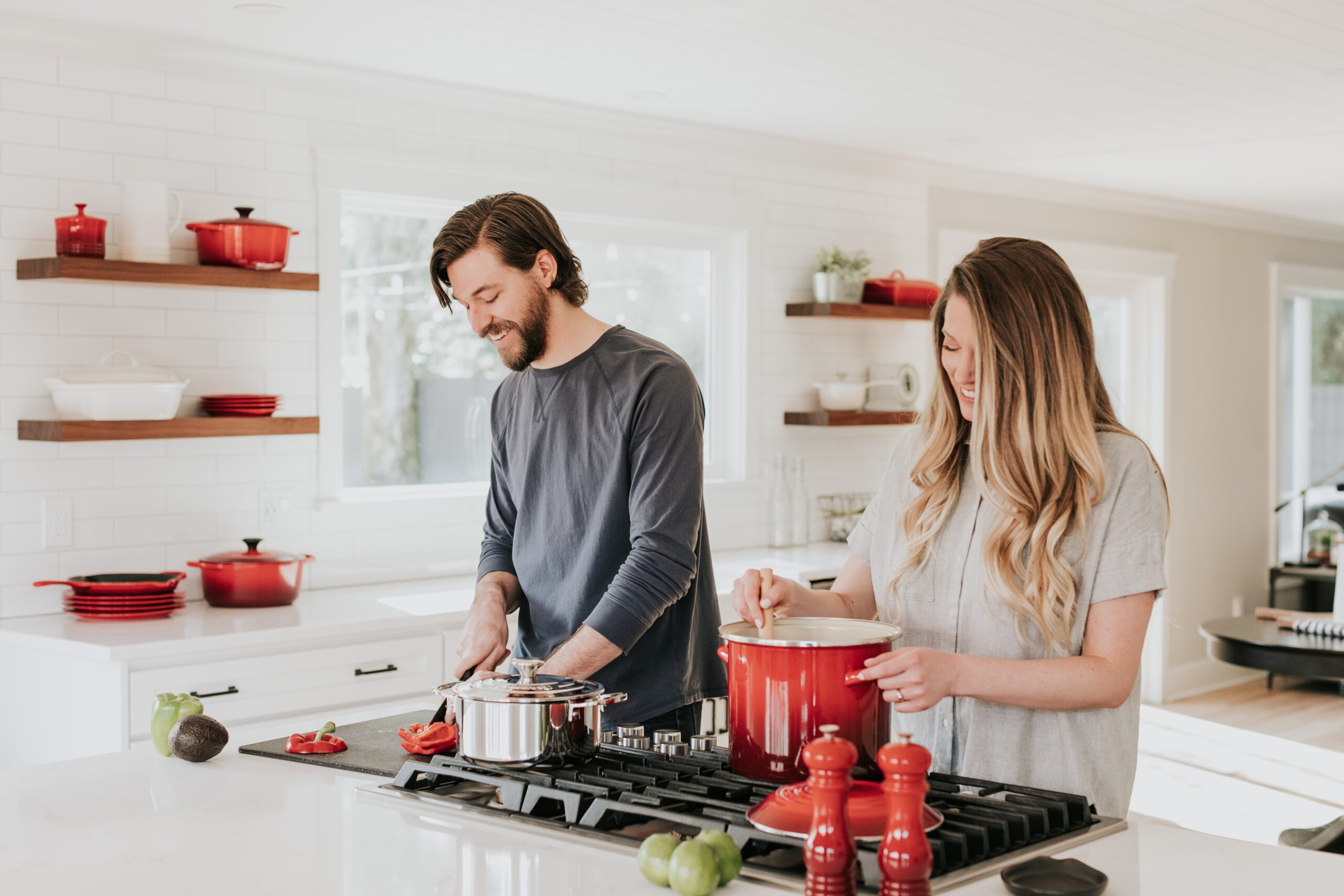 couple after kitchen remodeling contractor leaves