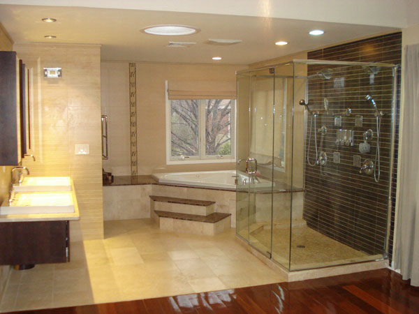 master bathroom remodeling after photo