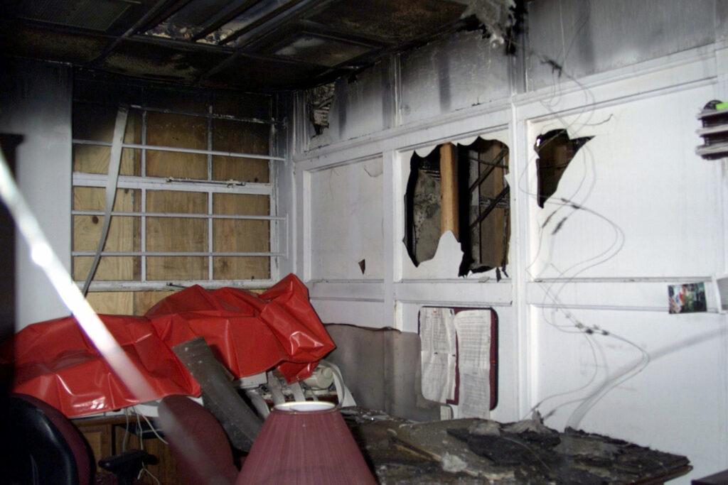 smoke damage inside home