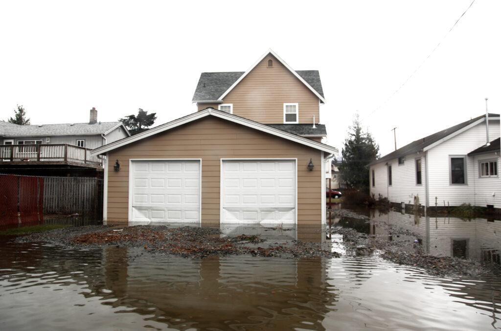 flood outside house