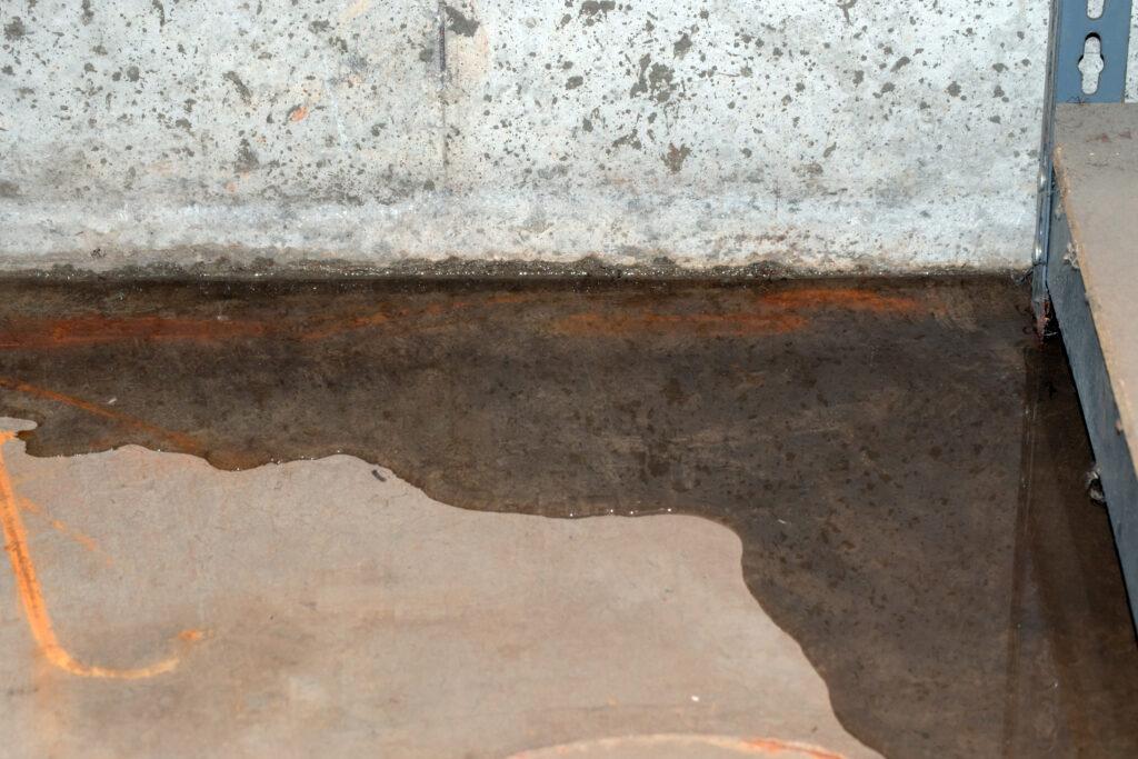 Leaking basement needs waterproofing